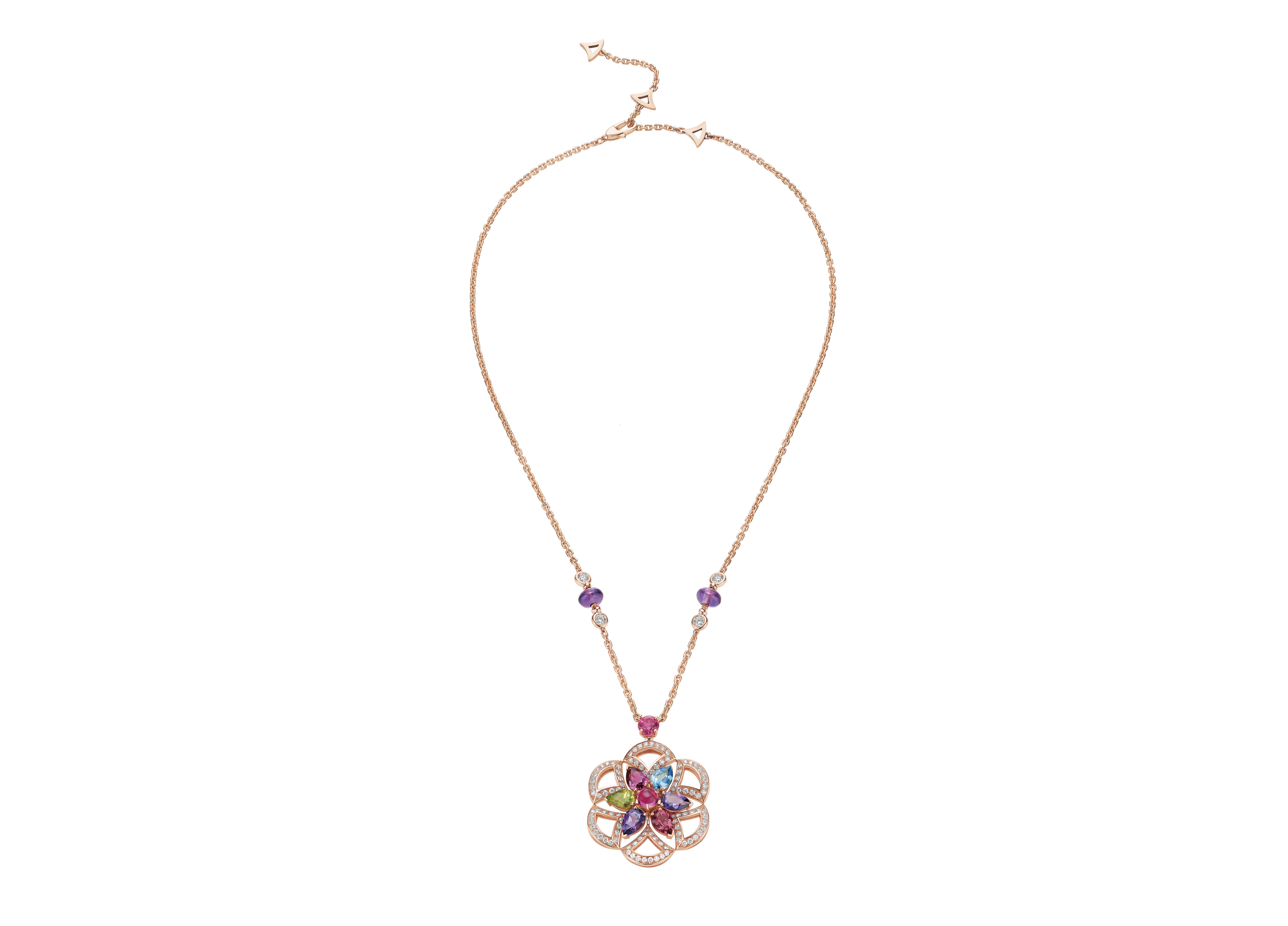 Colorful gemstone necklace