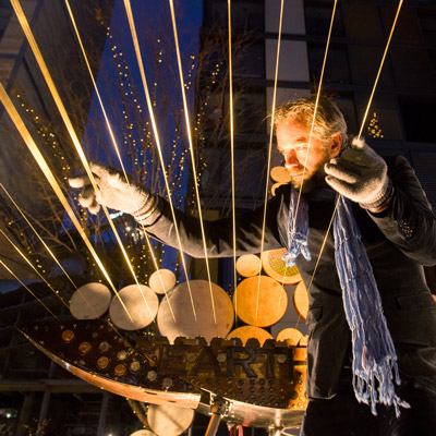 William Close plays the Earth Harp