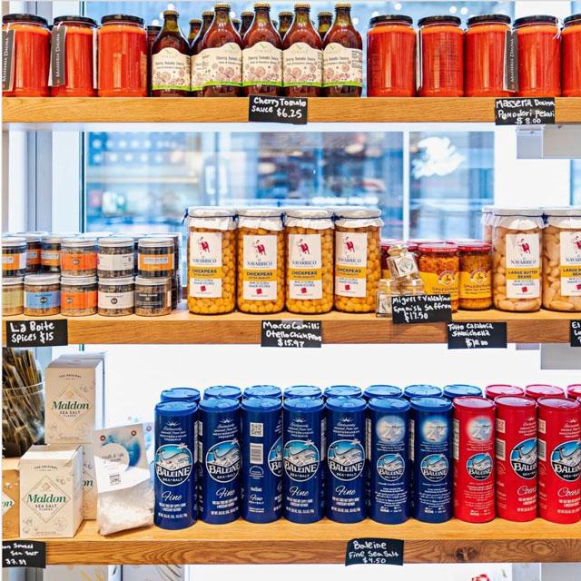 Pantry items at Centrolina Mercato at CityCenterDC