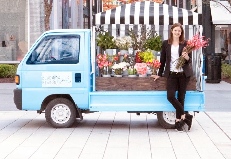 Blue Ribbon Flower Truck