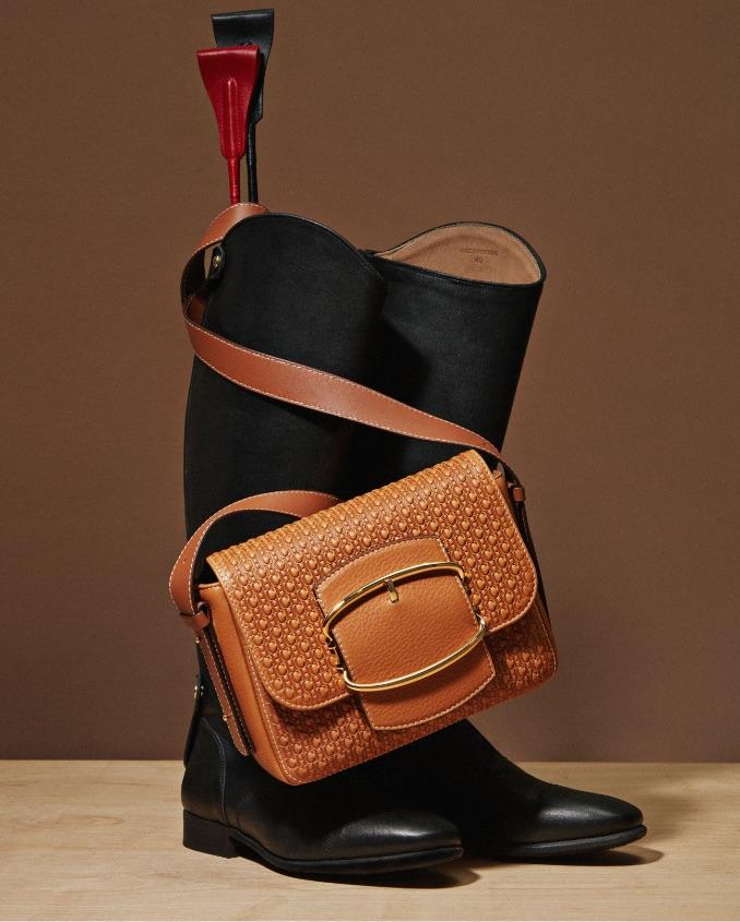 Boots and leather crossbody bag by Carolina Herrera