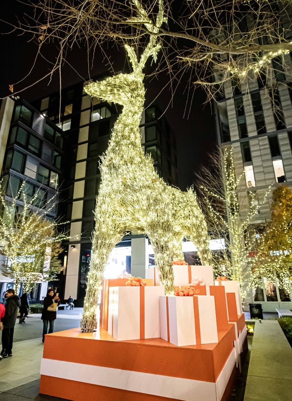 A reindeer sculpture at CityCenterDC