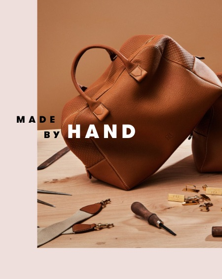 Made By Hand: a brown leather bag by Carolina Herrera