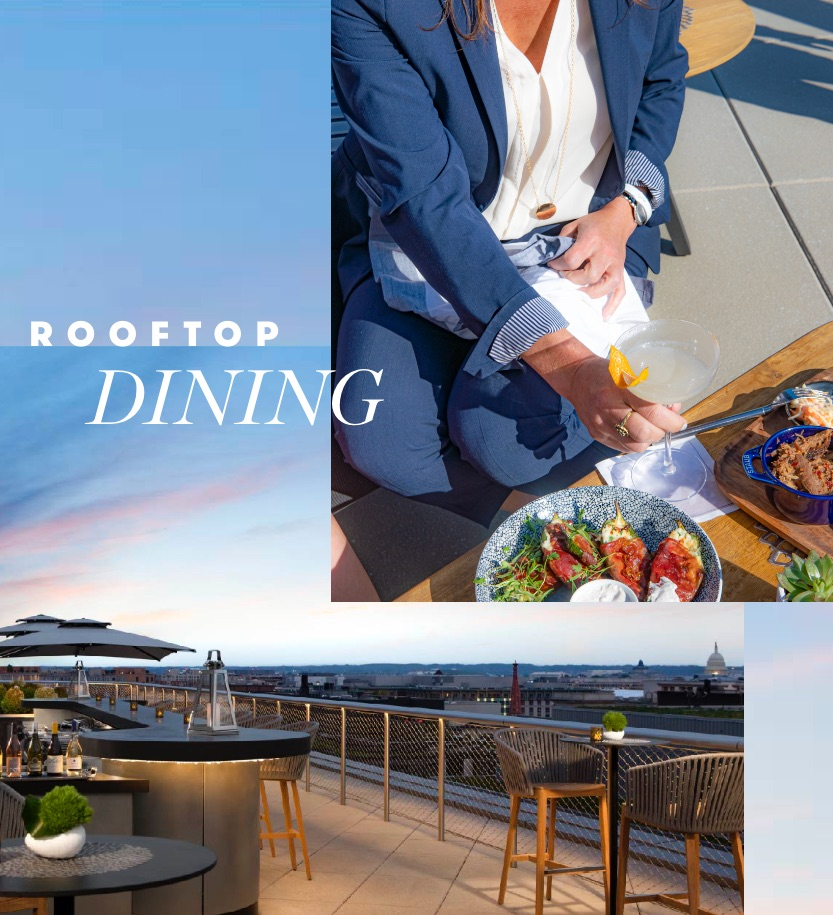 Rooftop Dining: SUMMIT rooftop bar at Conrad Hotel
