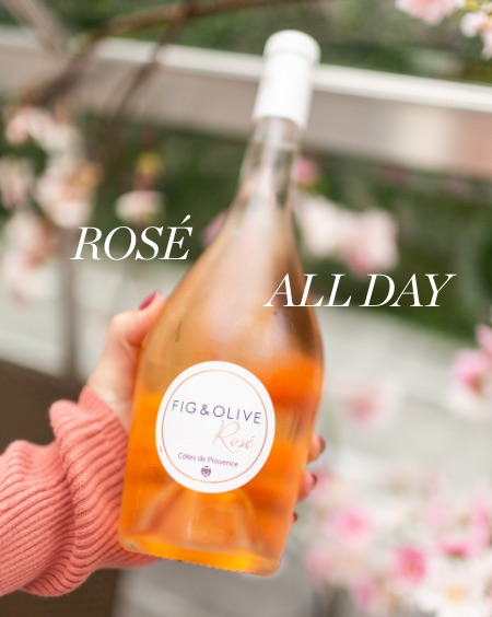 Rosé all day: a bottle of Rosé wine from Fig & Olive