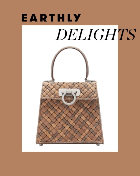 Earthly Delights: a cork bag by Salvatore Ferragamo