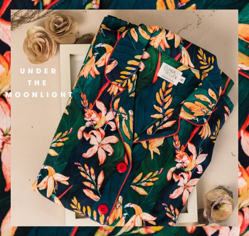 Floral pajama set by Claire de Lune